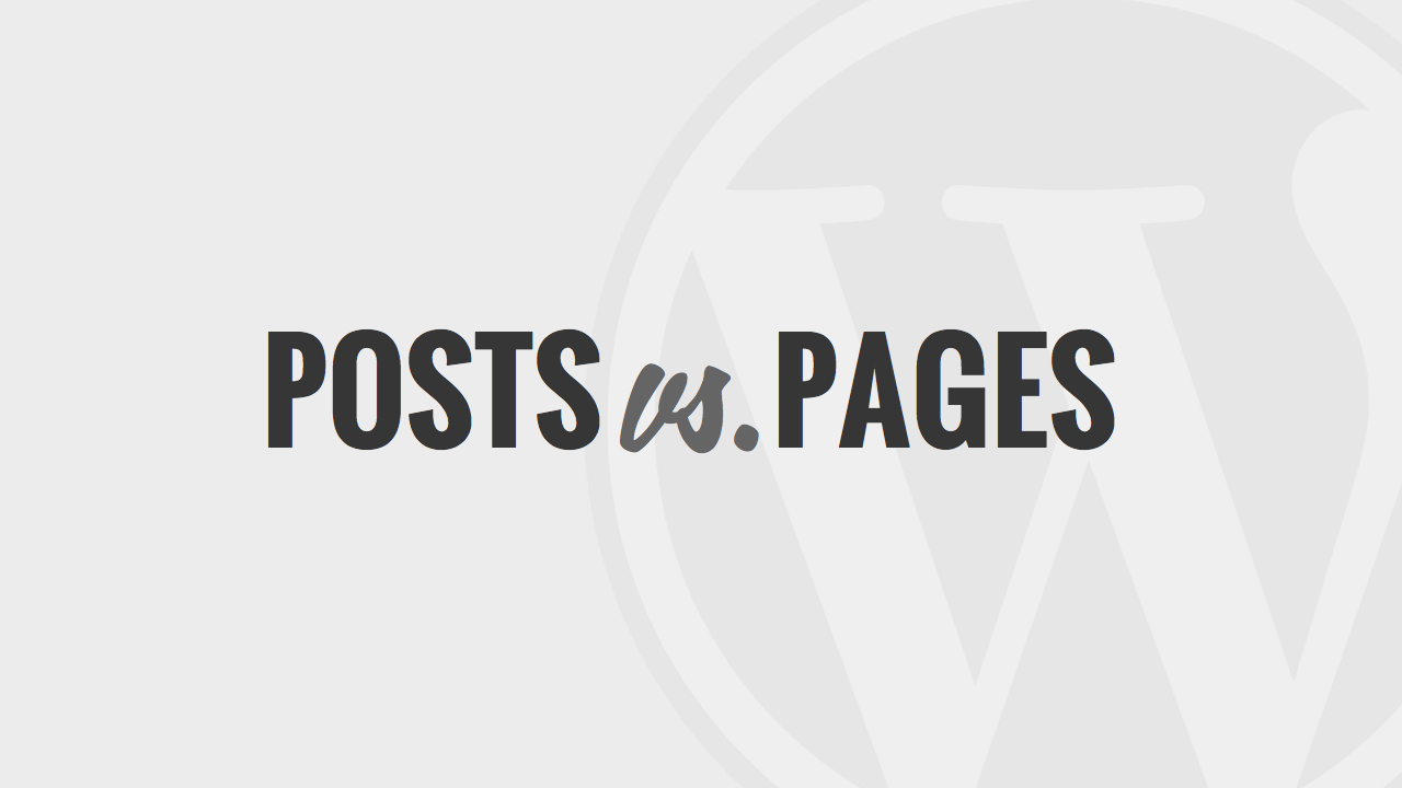02-POSTS-VS-PAGES