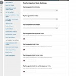 Top Navigation Style Settings