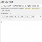 A Review Of The WordPress Simple Template