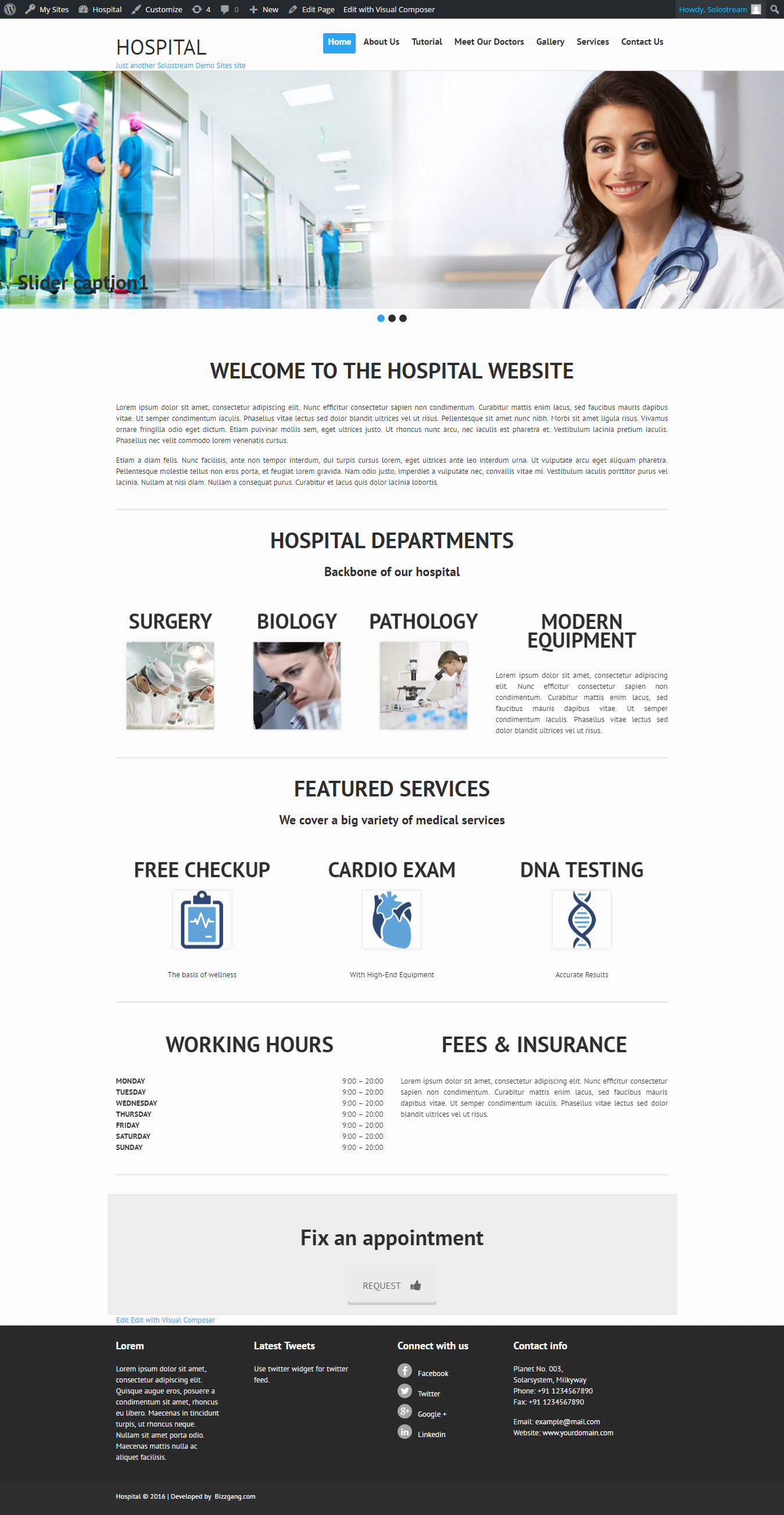 Hospital – Just another Solostream Demo Sites site